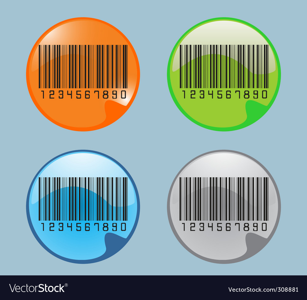 Barcodes glossy icon vector | Price: 1 Credit (USD $1)