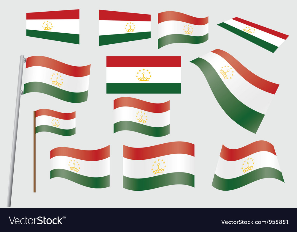 Flag of tajikistan vector | Price: 1 Credit (USD $1)