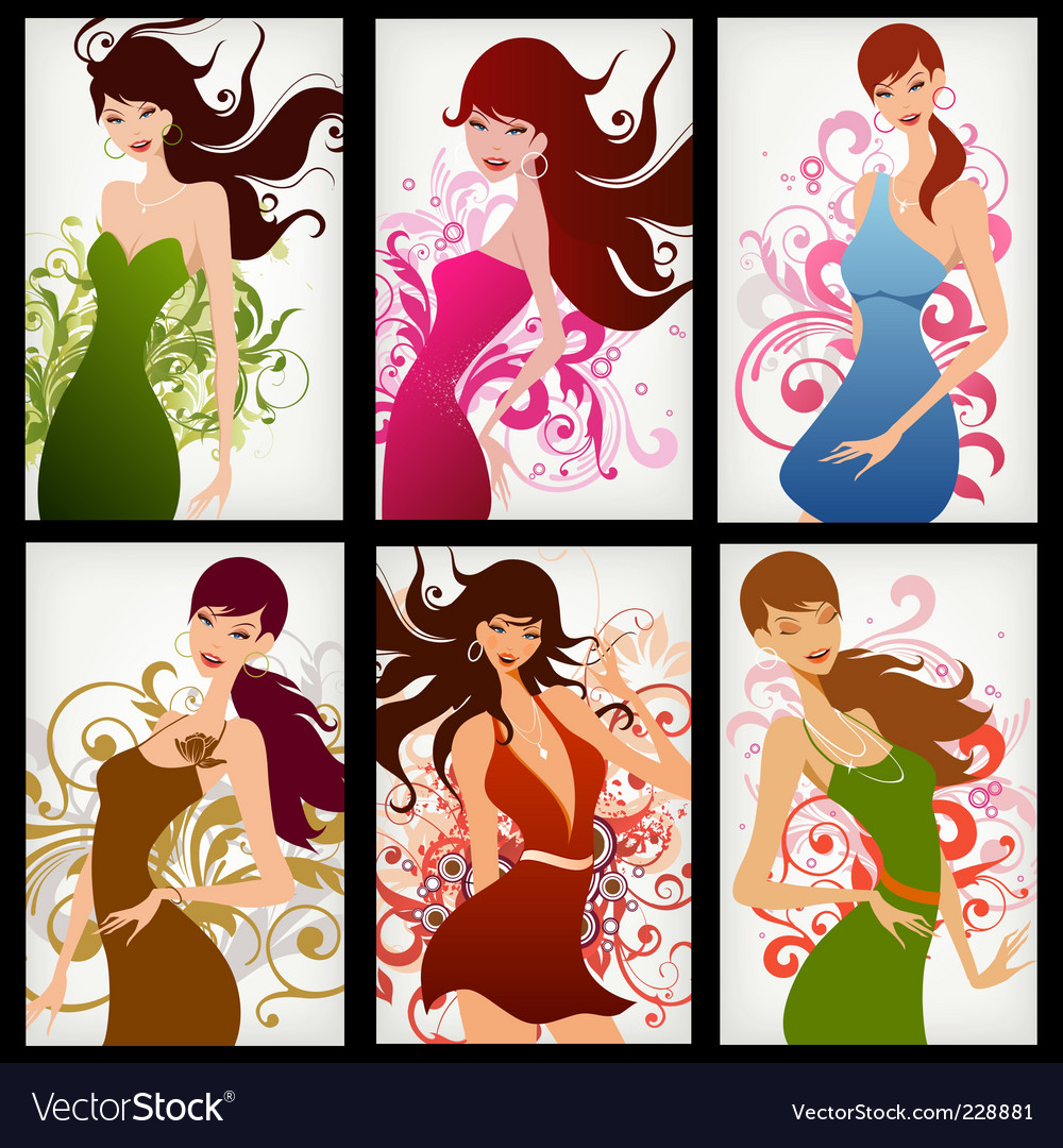 Floral woman vector | Price: 5 Credit (USD $5)