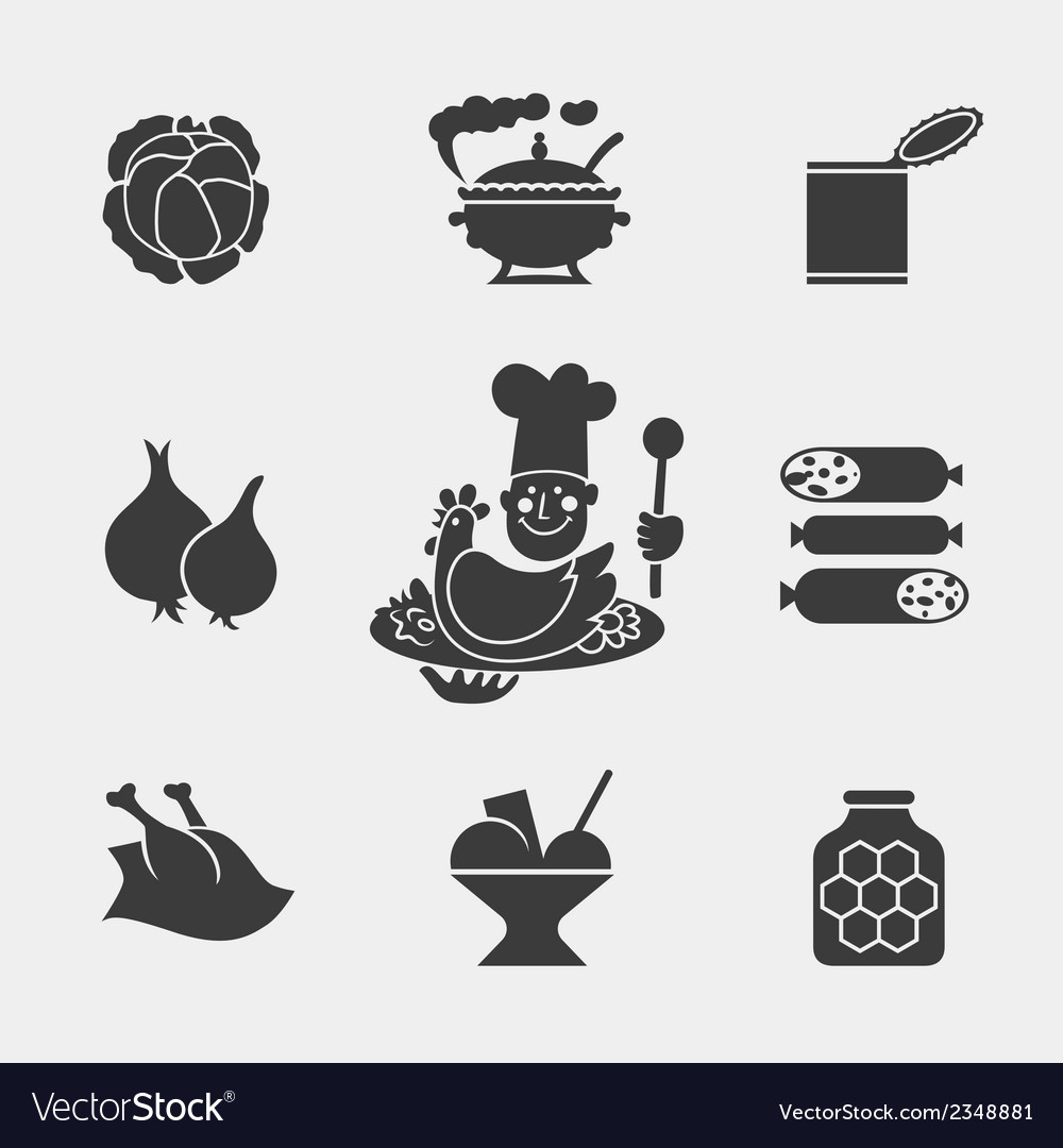 Foodicons3 vector | Price: 1 Credit (USD $1)