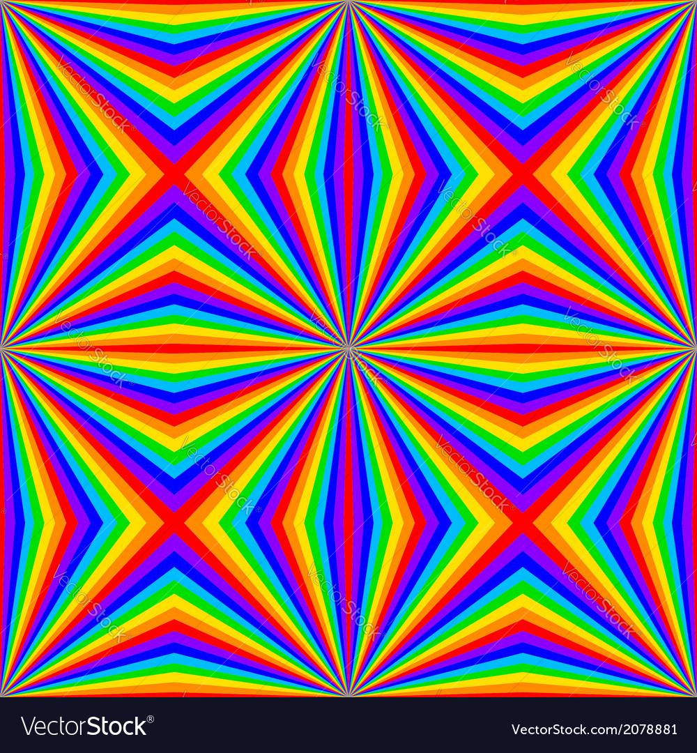 Geometric rainbow seamless pattern vector | Price: 1 Credit (USD $1)