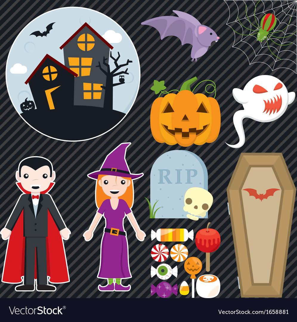 Halloween set 002 vector | Price: 1 Credit (USD $1)