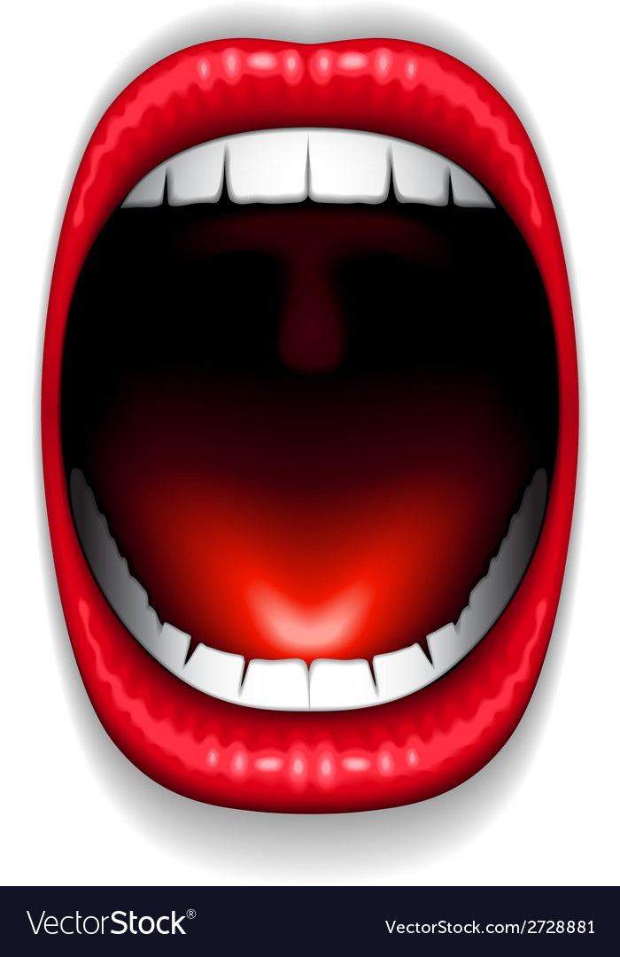 Mouth color open vector | Price: 1 Credit (USD $1)