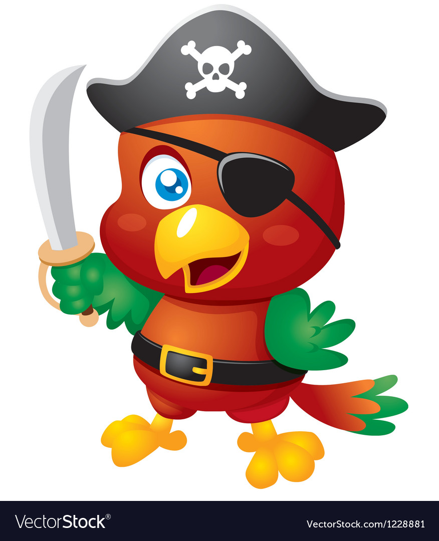 Pirate bird vector | Price: 3 Credit (USD $3)