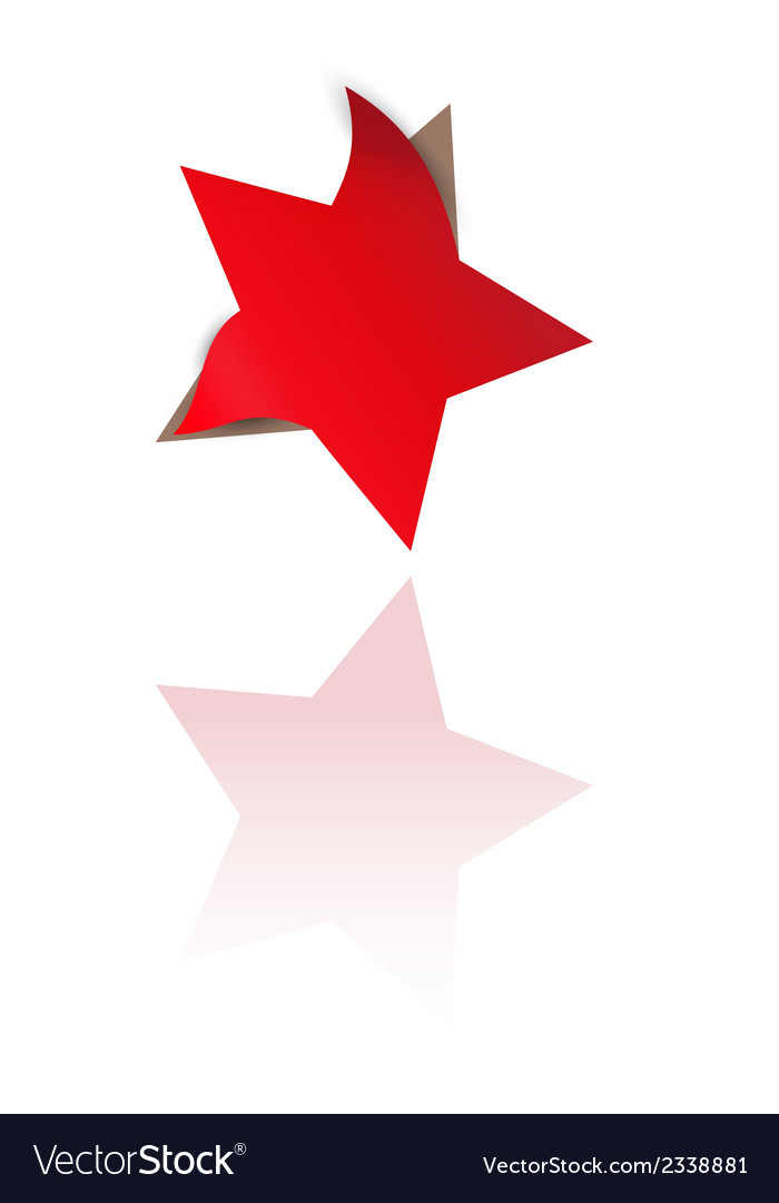Red star with bent corners vector | Price: 1 Credit (USD $1)