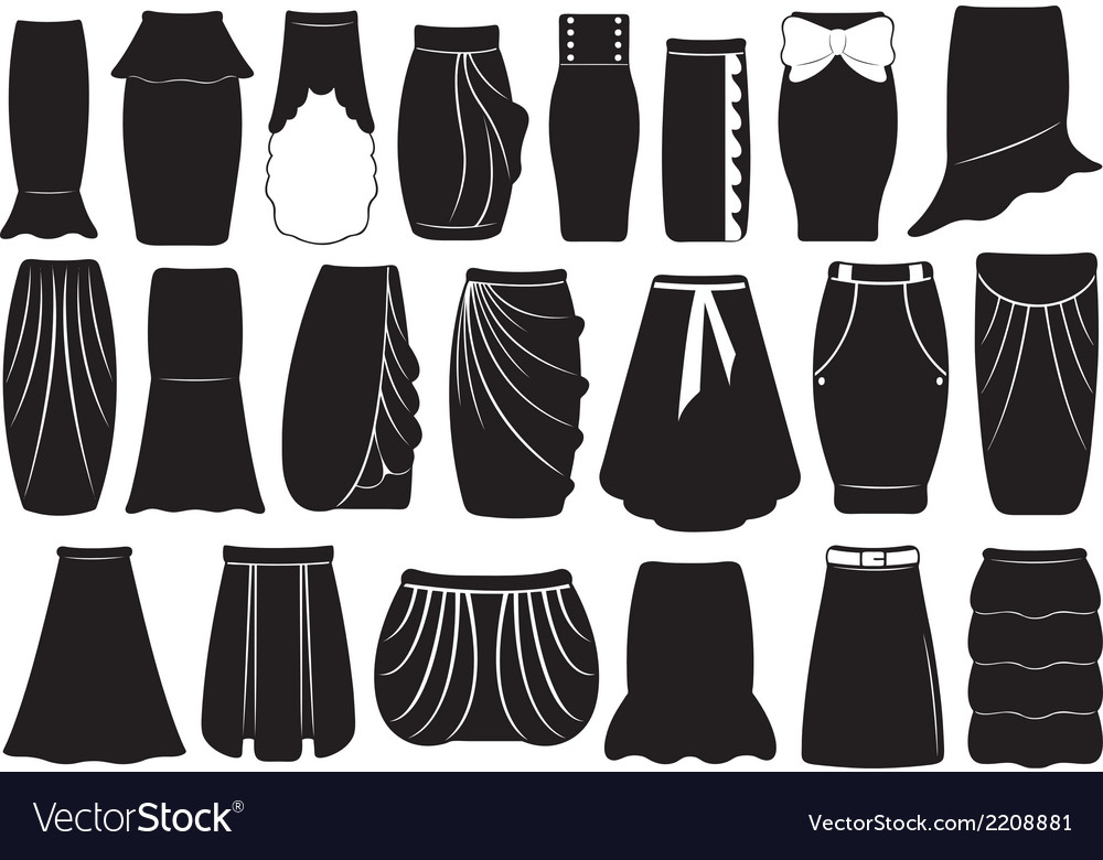 Set of different skirts vector | Price: 1 Credit (USD $1)