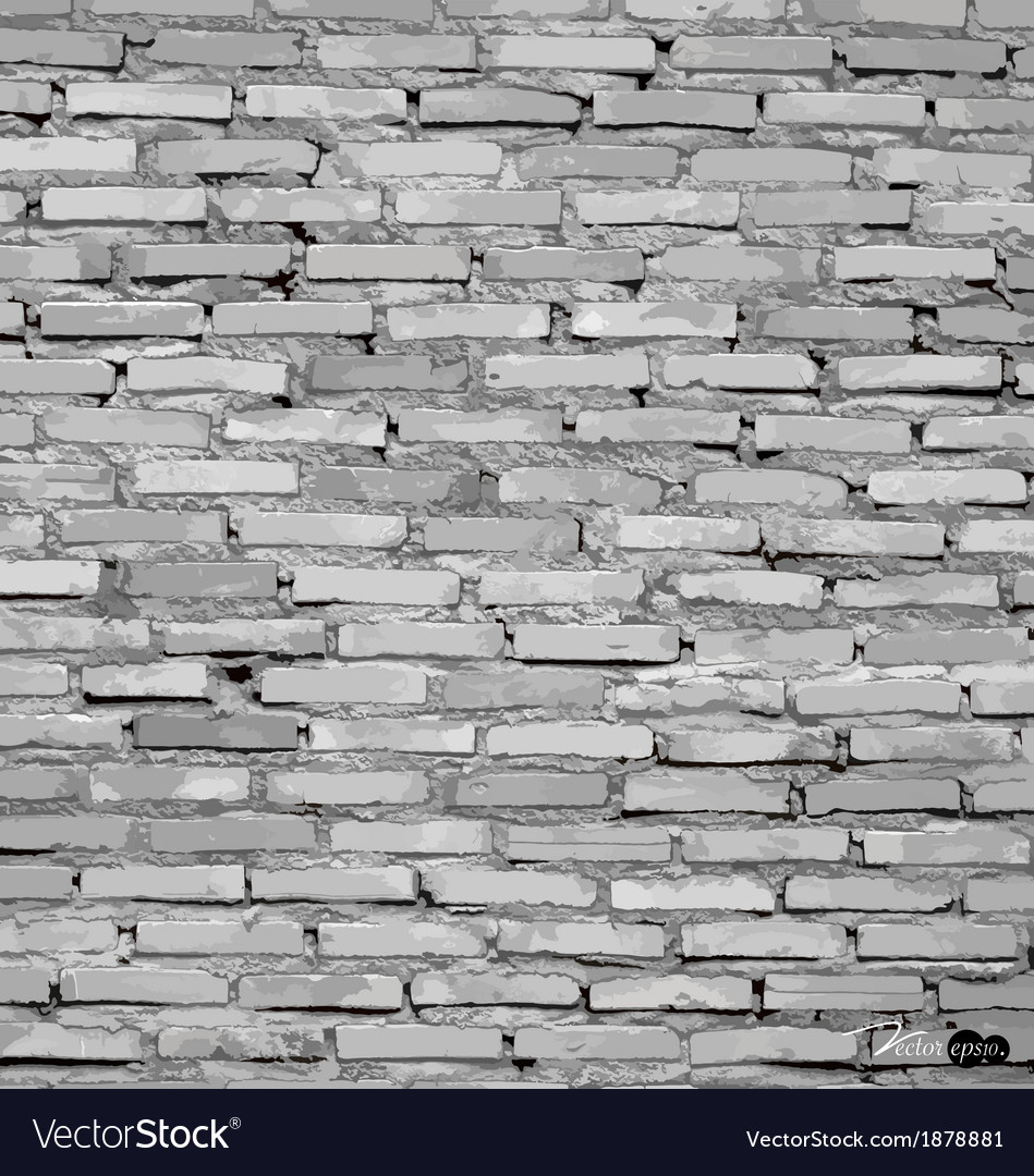 White grunge brick wall background vector | Price: 1 Credit (USD $1)