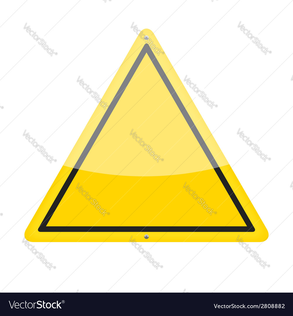 Blank warning sign vector | Price: 1 Credit (USD $1)
