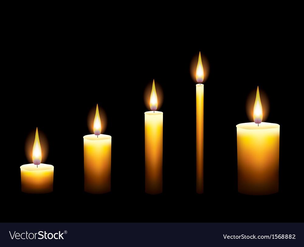 Candles dark background vector | Price: 1 Credit (USD $1)