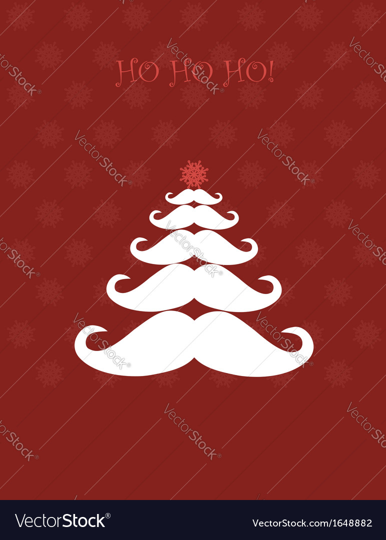 Christmas tree made of santas moustaches vector | Price: 1 Credit (USD $1)