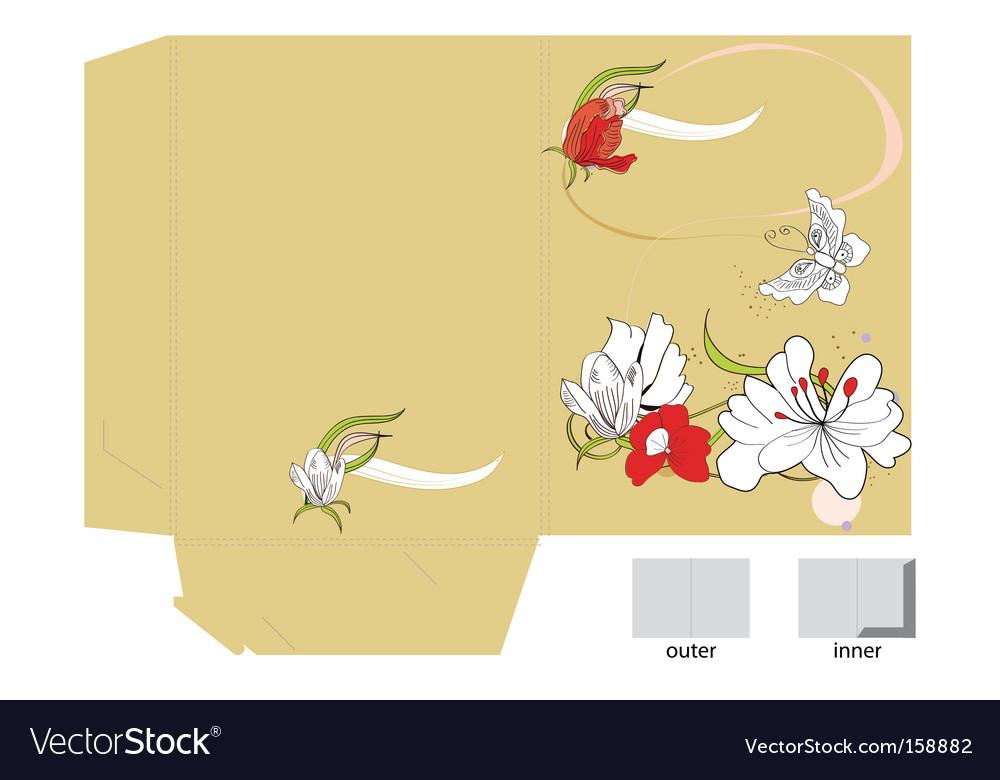 Floral folder vector   Price: 1 Credit (USD $1)