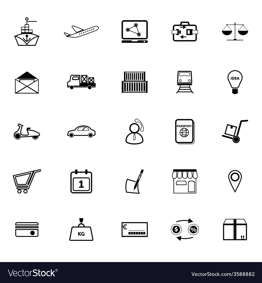 International business line icons on white vector | Price: 1 Credit (USD $1)