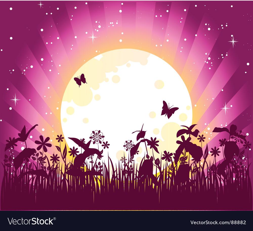 Moon pink vector | Price: 1 Credit (USD $1)