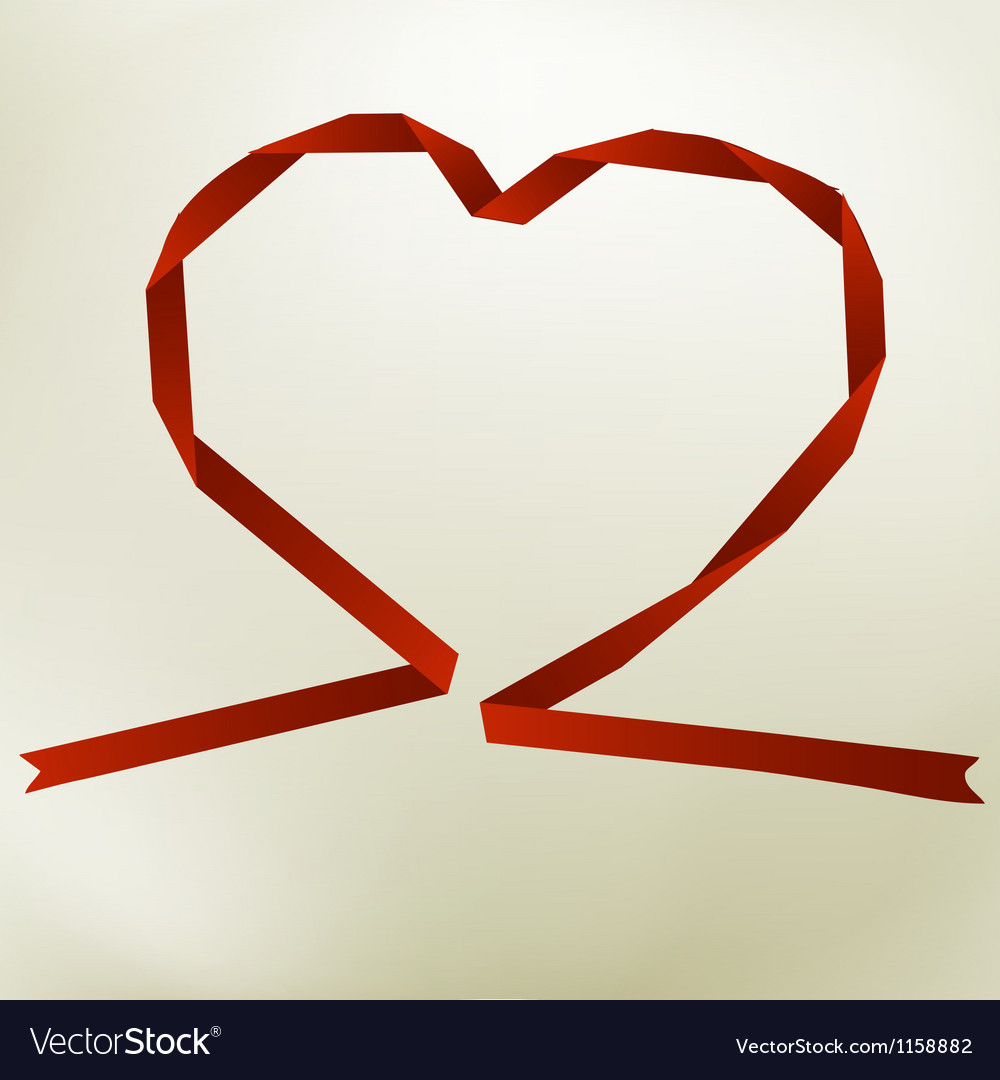 Paper origami heart on elegant background  eps8 vector | Price: 1 Credit (USD $1)