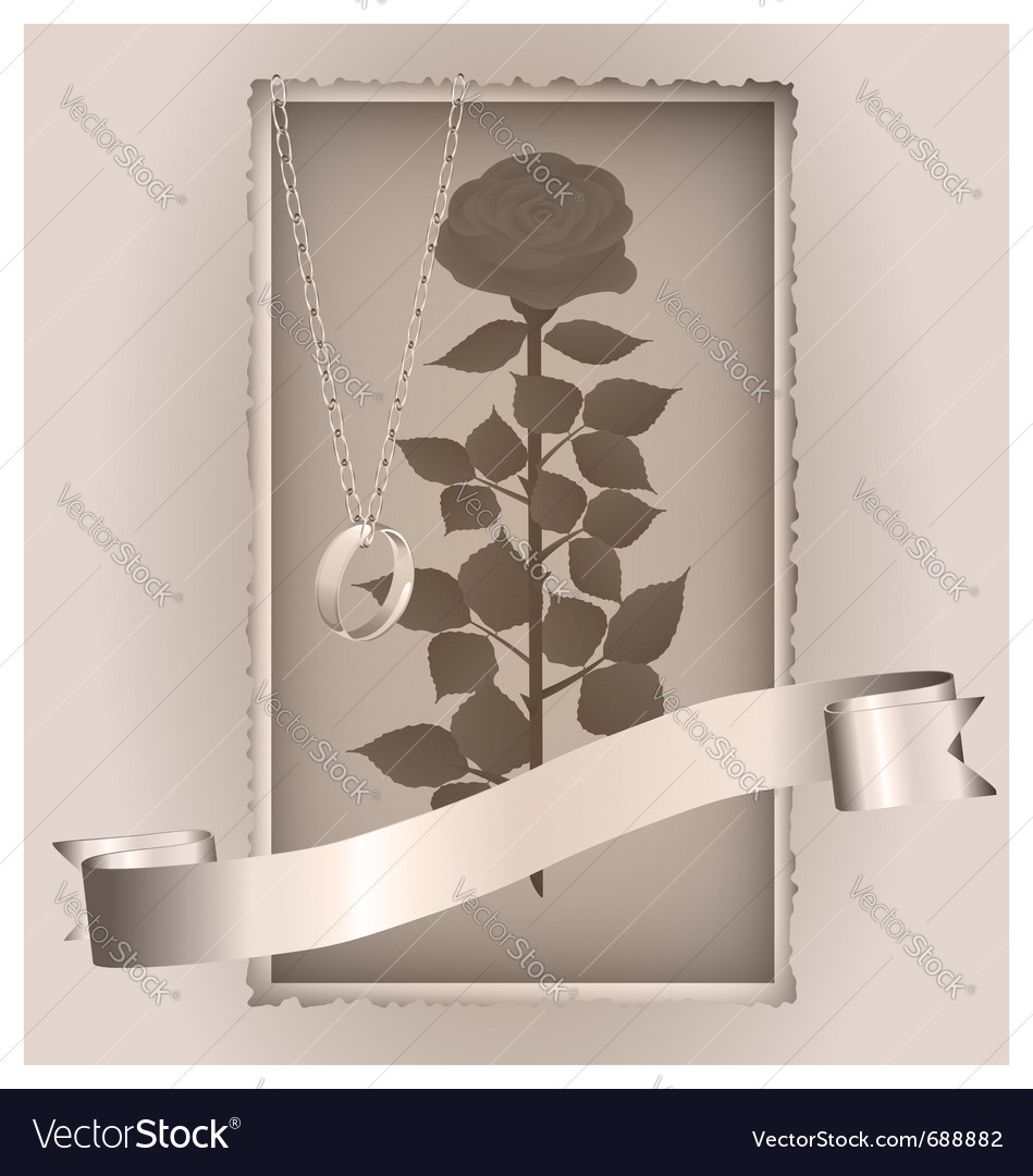 Retro rose and ring vector | Price: 1 Credit (USD $1)