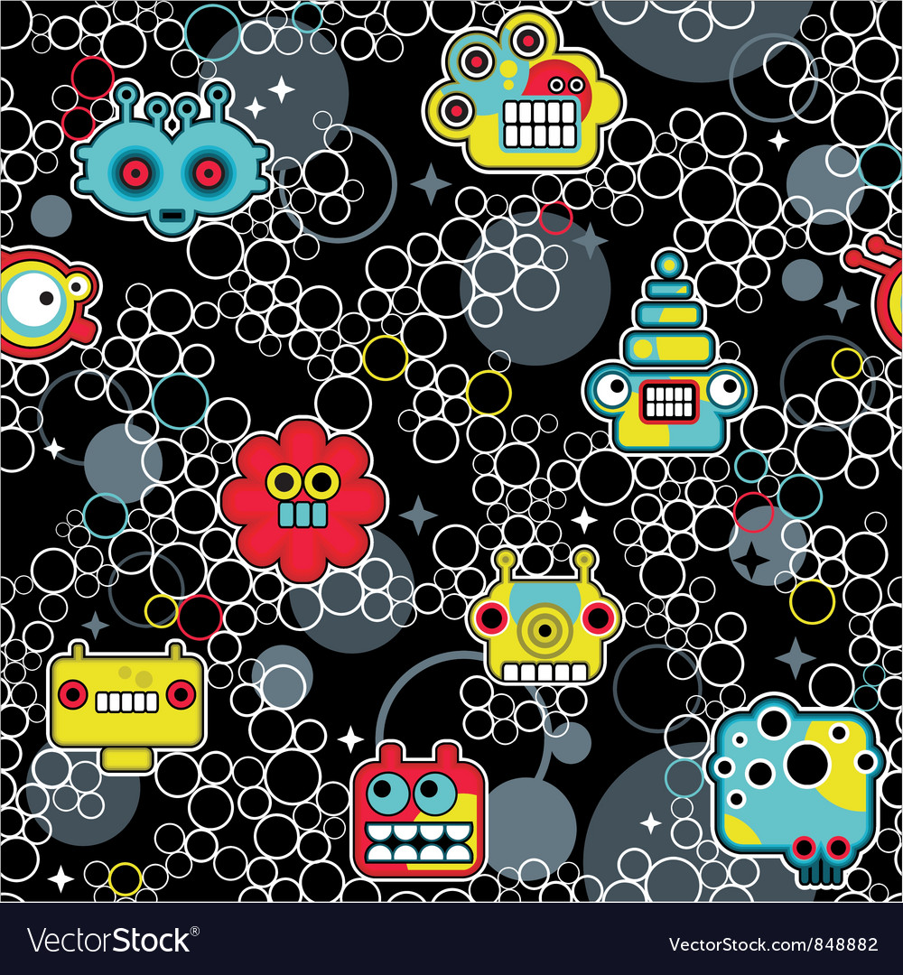 Robot and bubbles vector | Price: 1 Credit (USD $1)