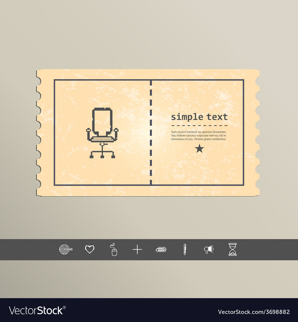 Simple stylish pixel icon chair design vector | Price: 1 Credit (USD $1)