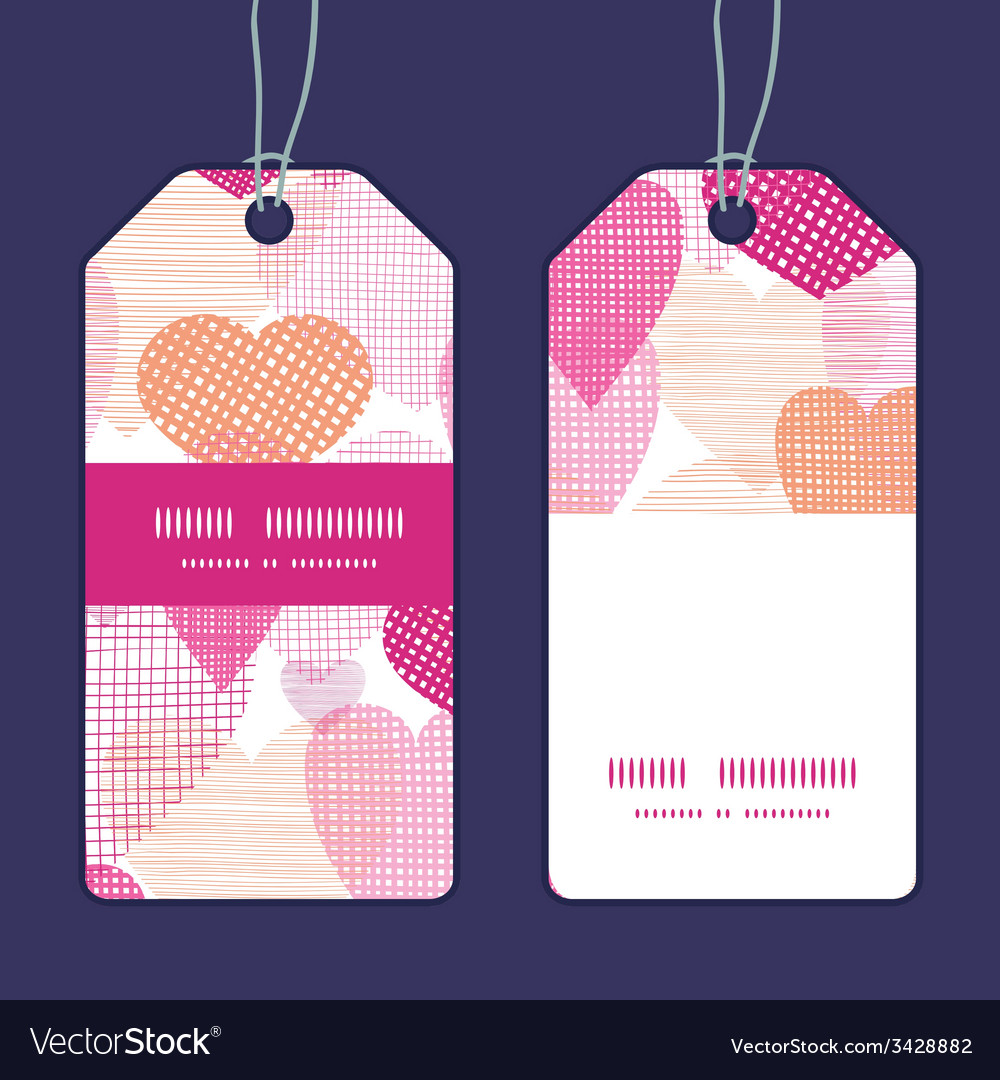 Textured fabric hearts heart silhouette pattern vector | Price: 1 Credit (USD $1)