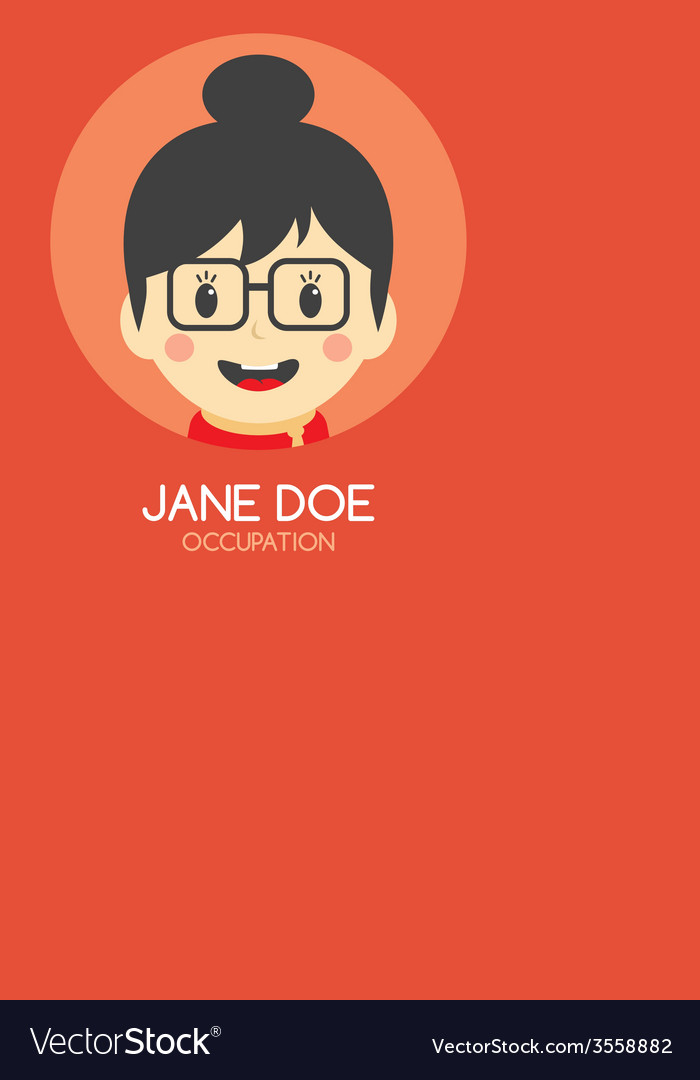 Woman cartoon theme business card vector | Price: 1 Credit (USD $1)