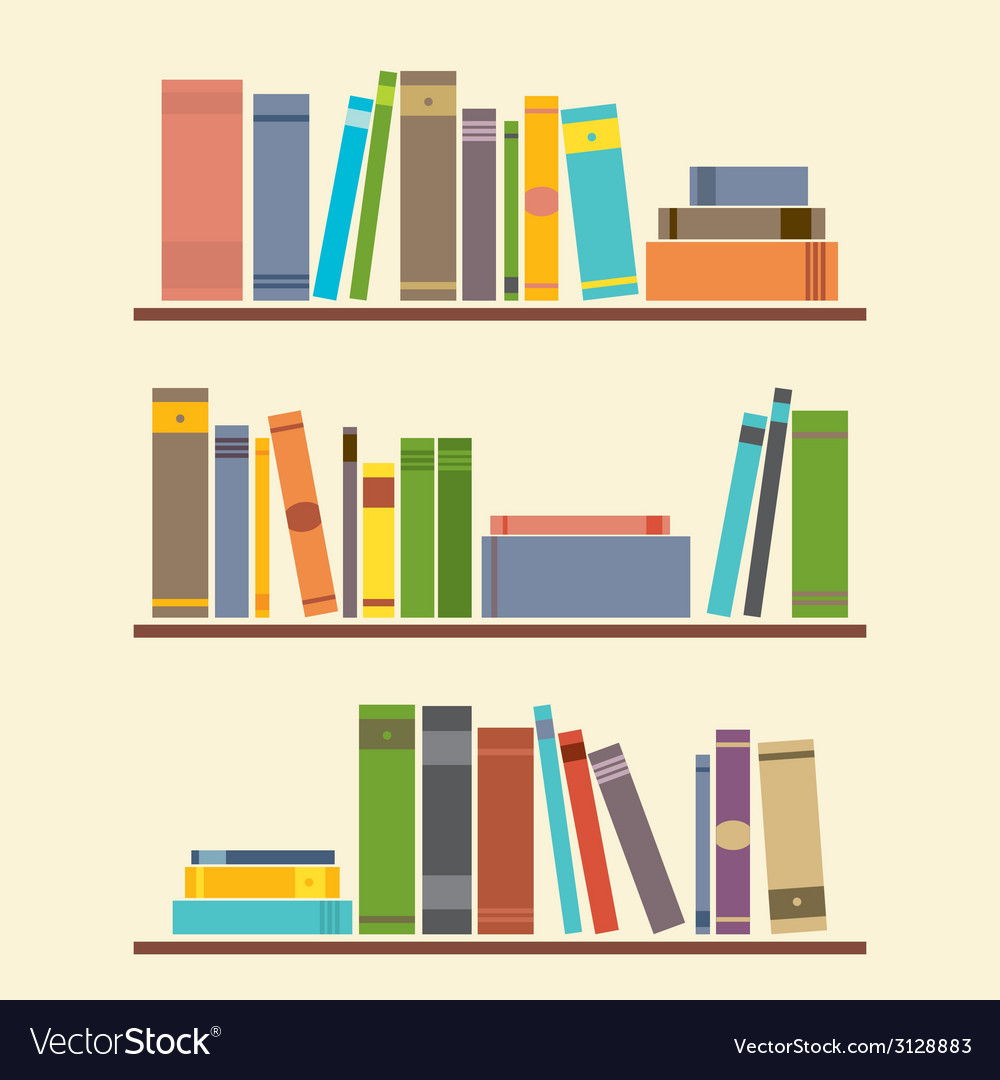 Bookshelf graphic vector | Price: 1 Credit (USD $1)