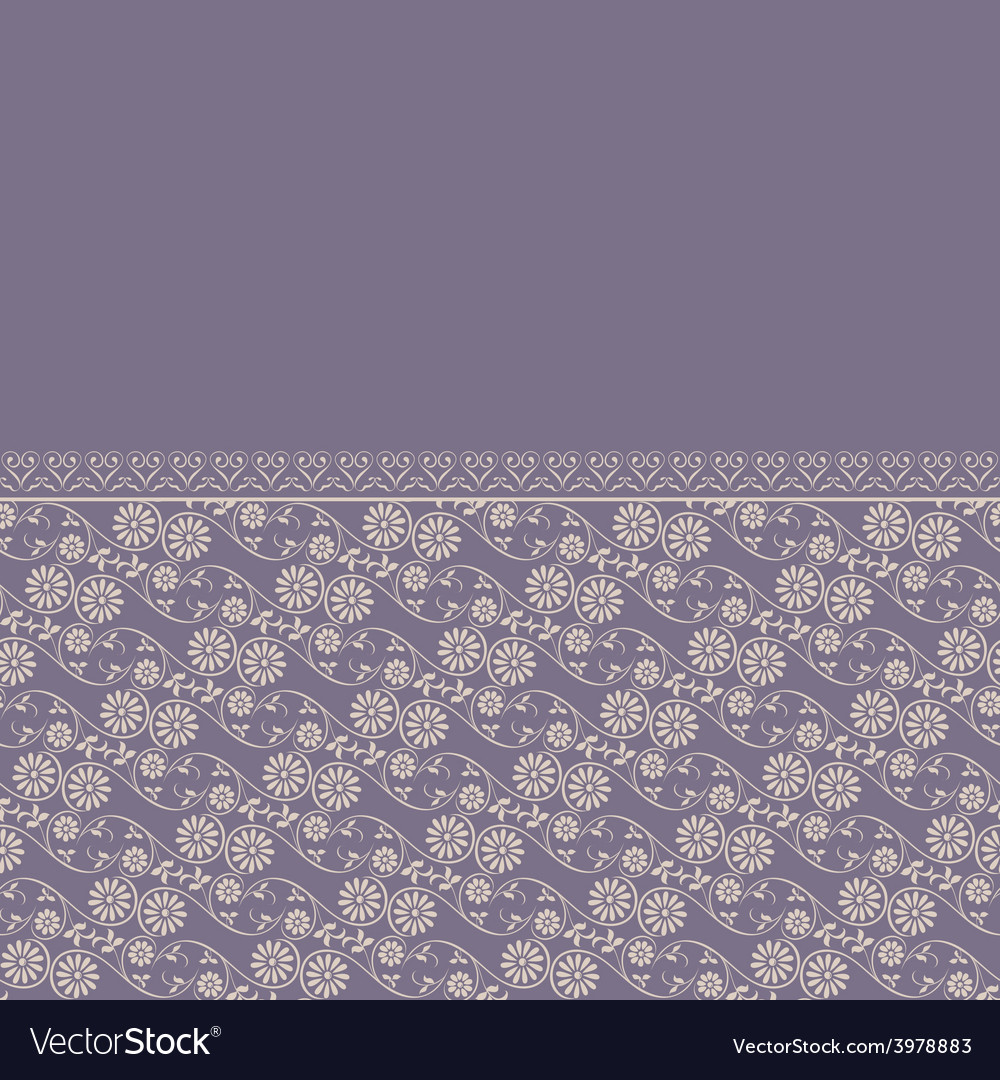 Border background floral vector | Price: 1 Credit (USD $1)