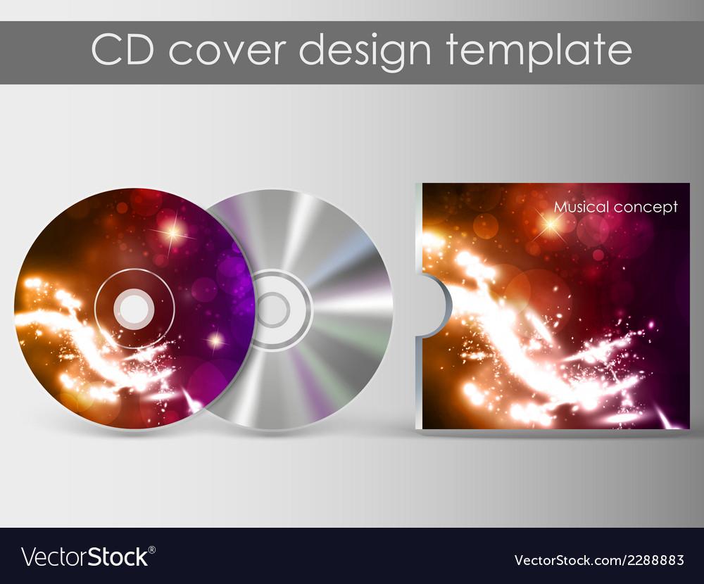 Cd cover presentation design template vector   Price: 1 Credit (USD $1)