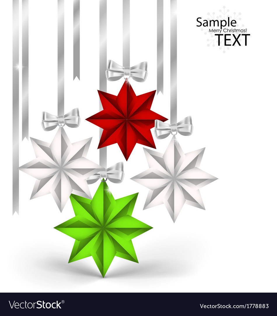 Christmas decorations with ribbon and bow vector   Price: 1 Credit (USD $1)