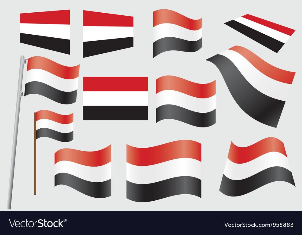 Flag of yemen vector   Price: 1 Credit (USD $1)