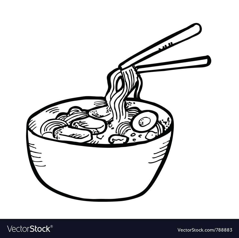 Ramen doodle vector | Price: 1 Credit (USD $1)