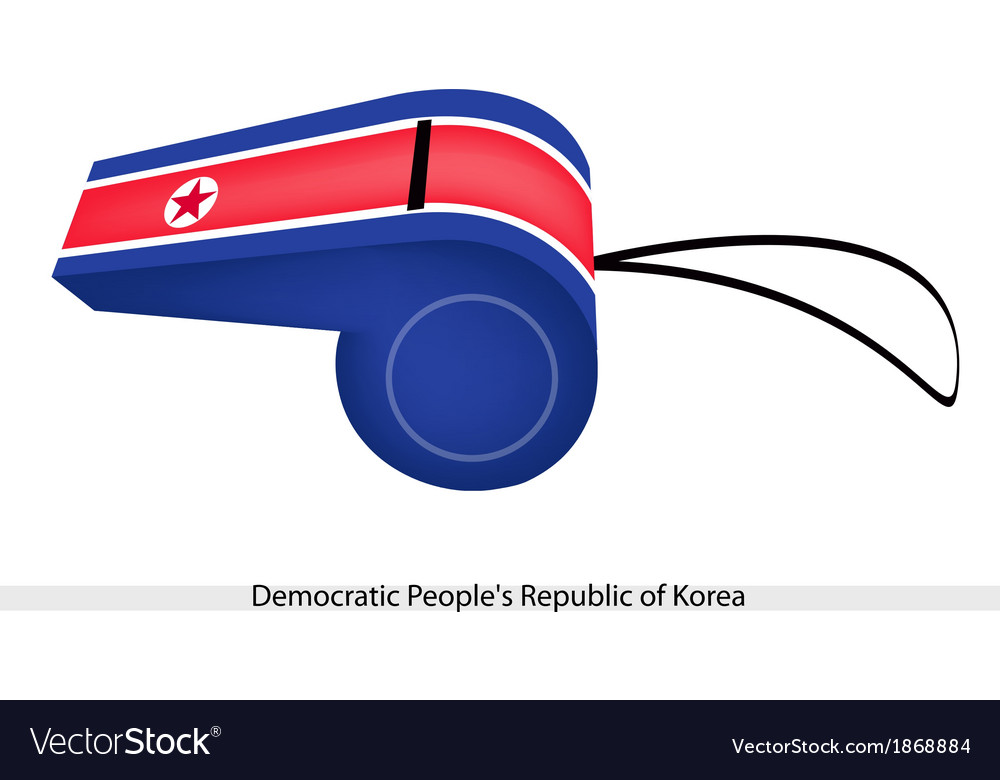 A whistle of democratic peoples republic of korea vector | Price: 1 Credit (USD $1)