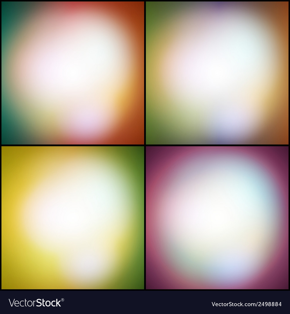 Abstract set of multicolored backgrounds defocused vector | Price: 1 Credit (USD $1)