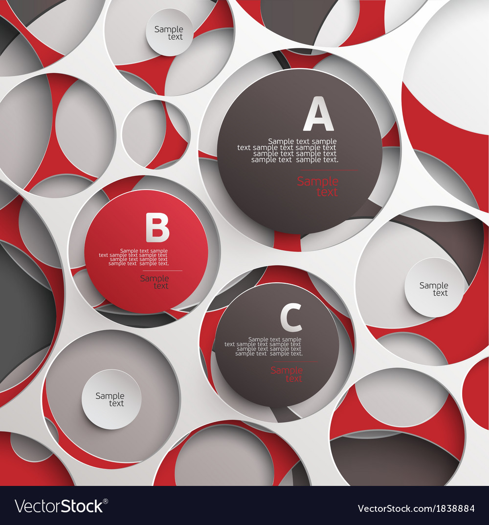 Background of circles vector | Price: 1 Credit (USD $1)