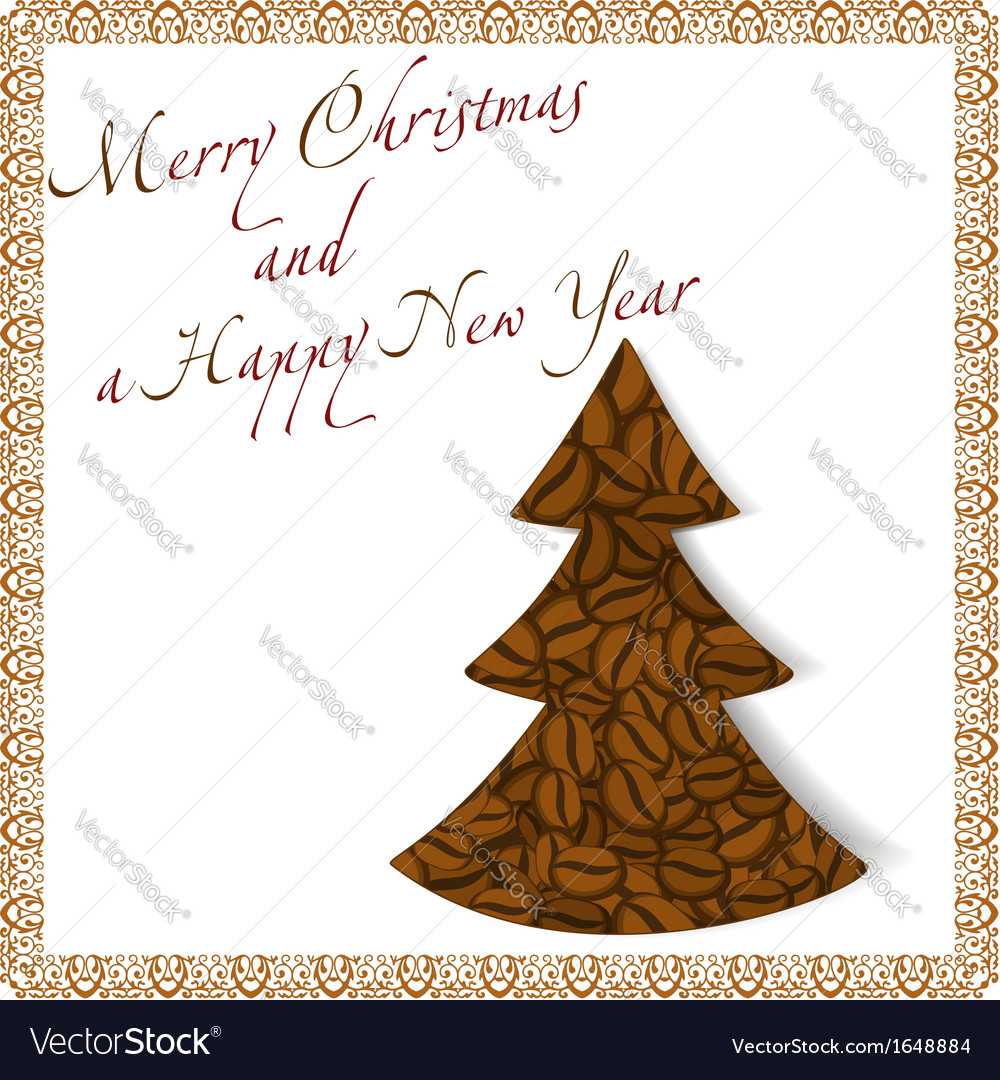 Christmas tree made of coffee beans vector | Price: 1 Credit (USD $1)