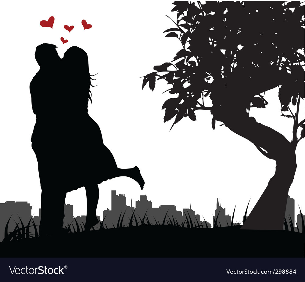 Couple love vector