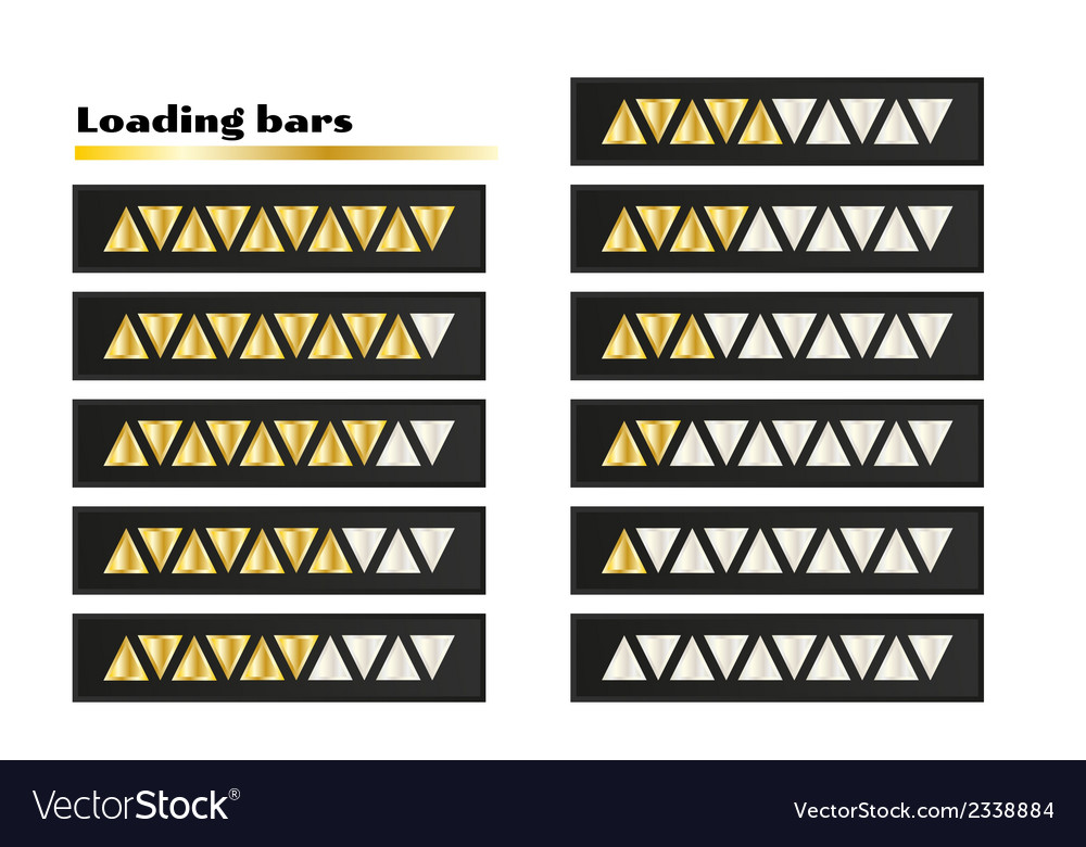 Gold loading bars vector | Price: 1 Credit (USD $1)