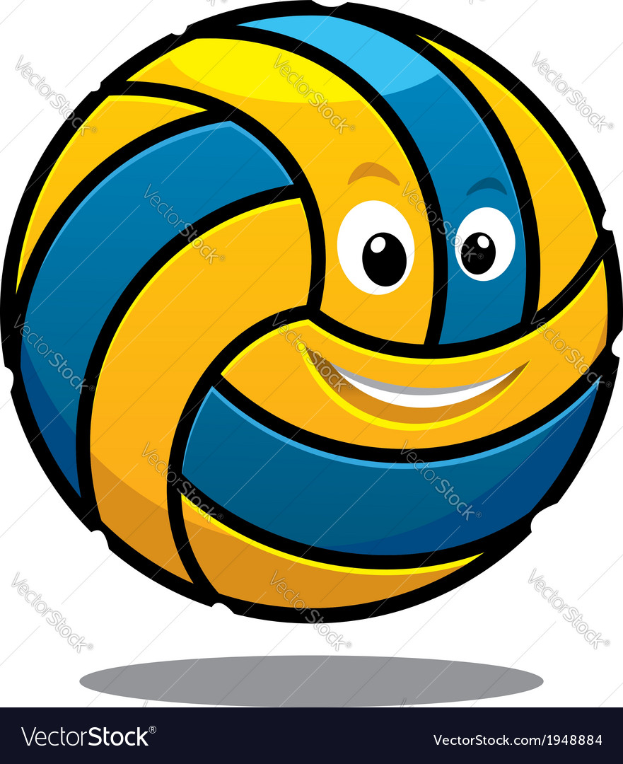 Happy colourful bouncing volleyball ball vector | Price: 1 Credit (USD $1)