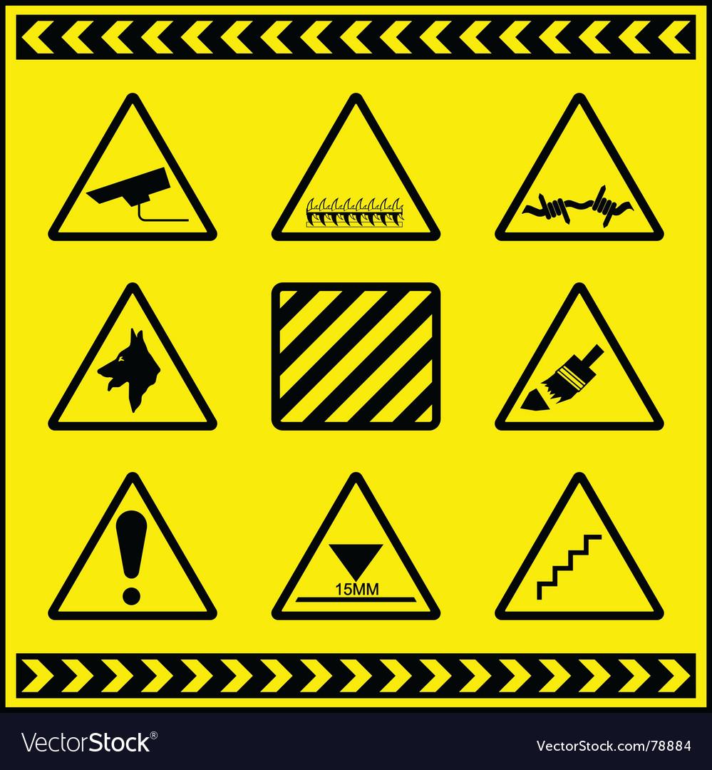 Hazards vector | Price: 1 Credit (USD $1)