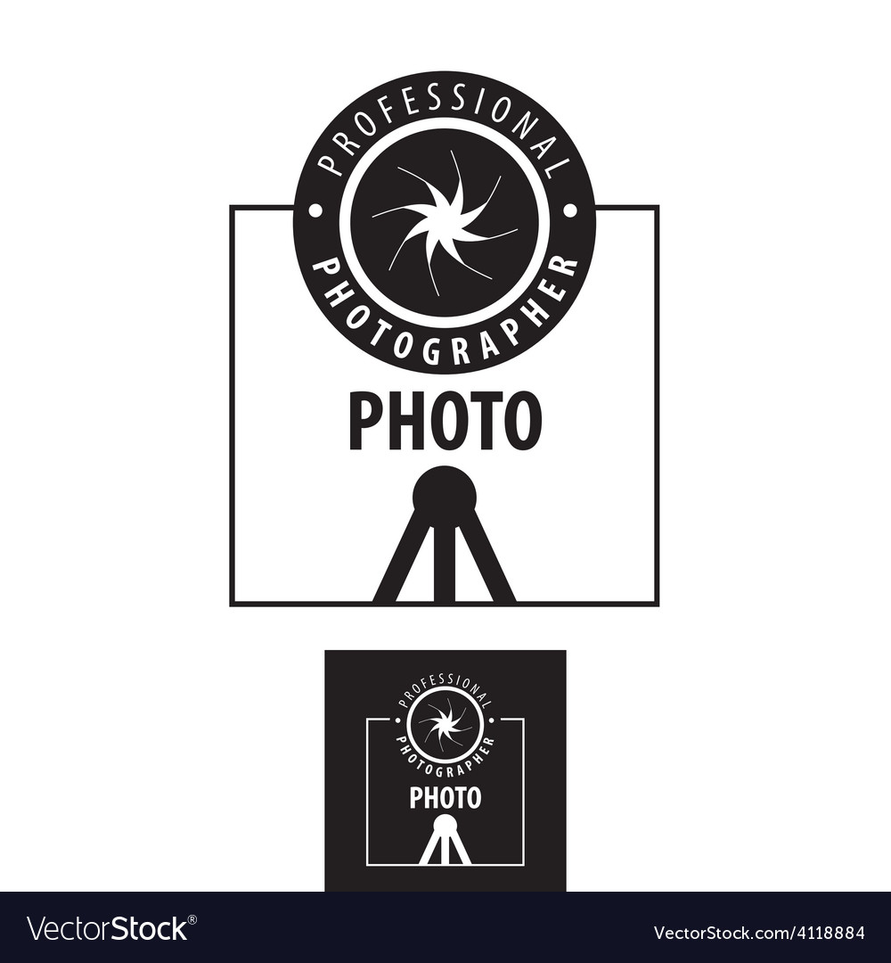 Logo for photographer lens on a tripod vector | Price: 1 Credit (USD $1)