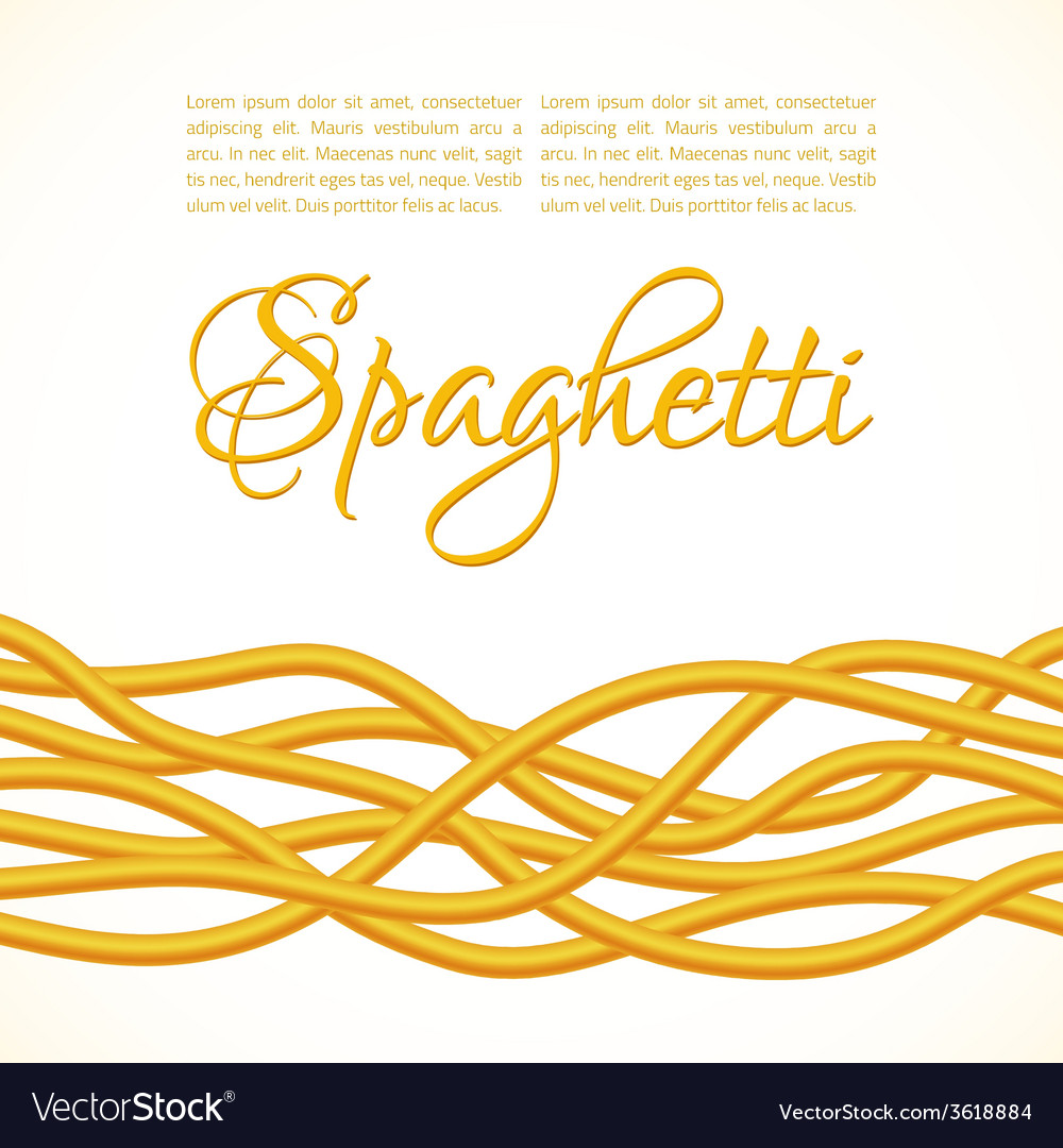 Realistic twisted spaghetti pasta vector | Price: 1 Credit (USD $1)