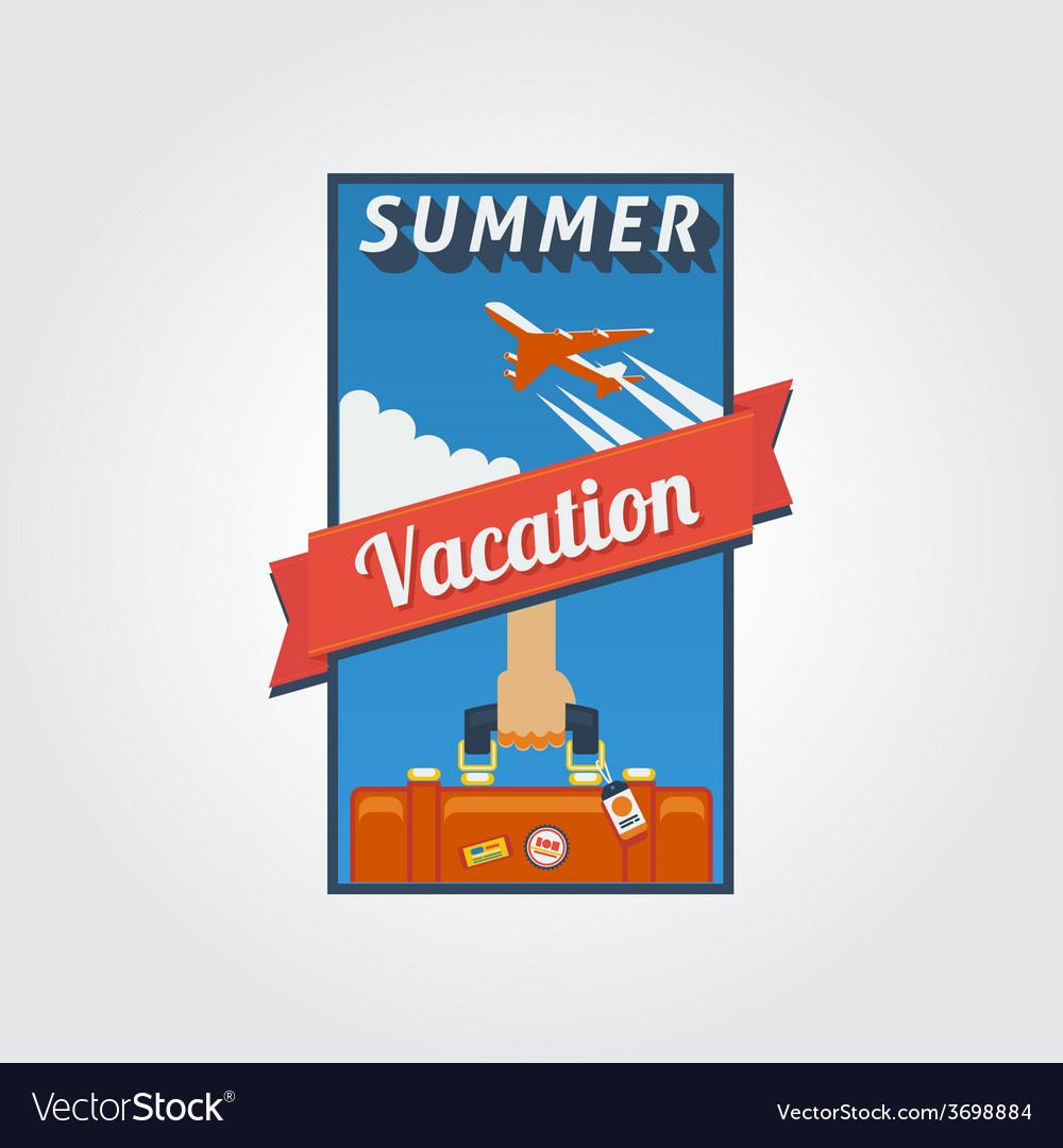 Summer vacation banner 01 vector | Price: 1 Credit (USD $1)
