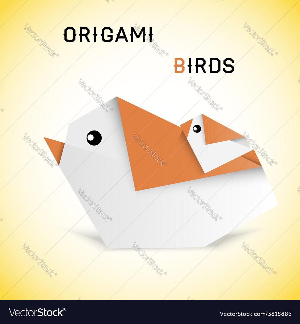 Birds origami vector | Price: 1 Credit (USD $1)