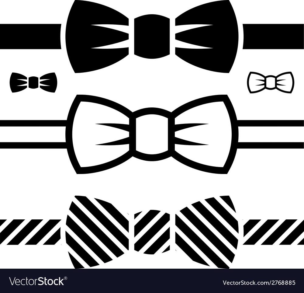 Bow tie black symbols vector | Price: 1 Credit (USD $1)