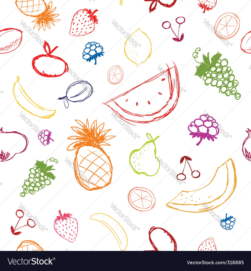 Fruit sketch vector | Price: 1 Credit (USD $1)