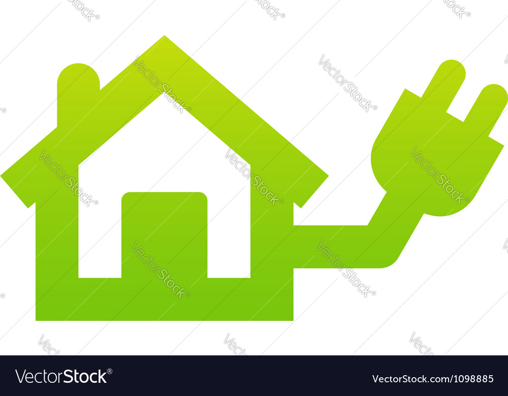 Home electricity icon vector | Price: 1 Credit (USD $1)