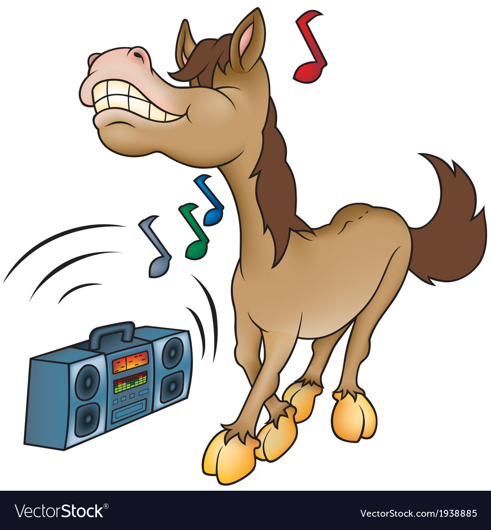 Horse and music vector | Price: 1 Credit (USD $1)