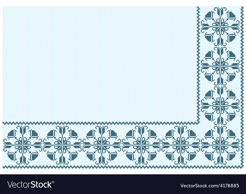 Ornament blue pixel vector | Price: 1 Credit (USD $1)