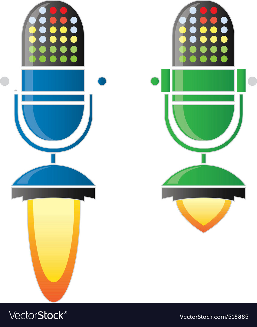 Rocket mic vector | Price: 1 Credit (USD $1)