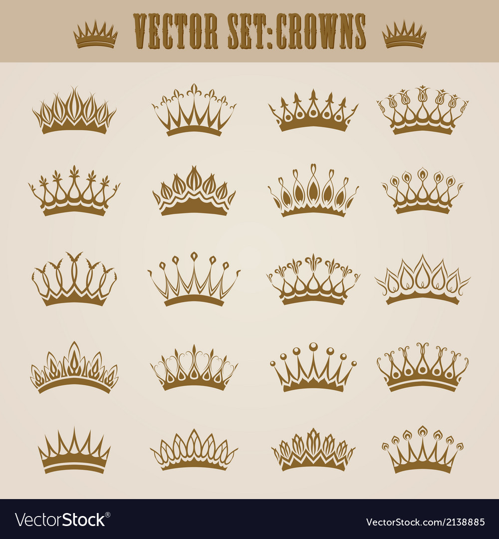 Victorian crowns vector | Price: 1 Credit (USD $1)