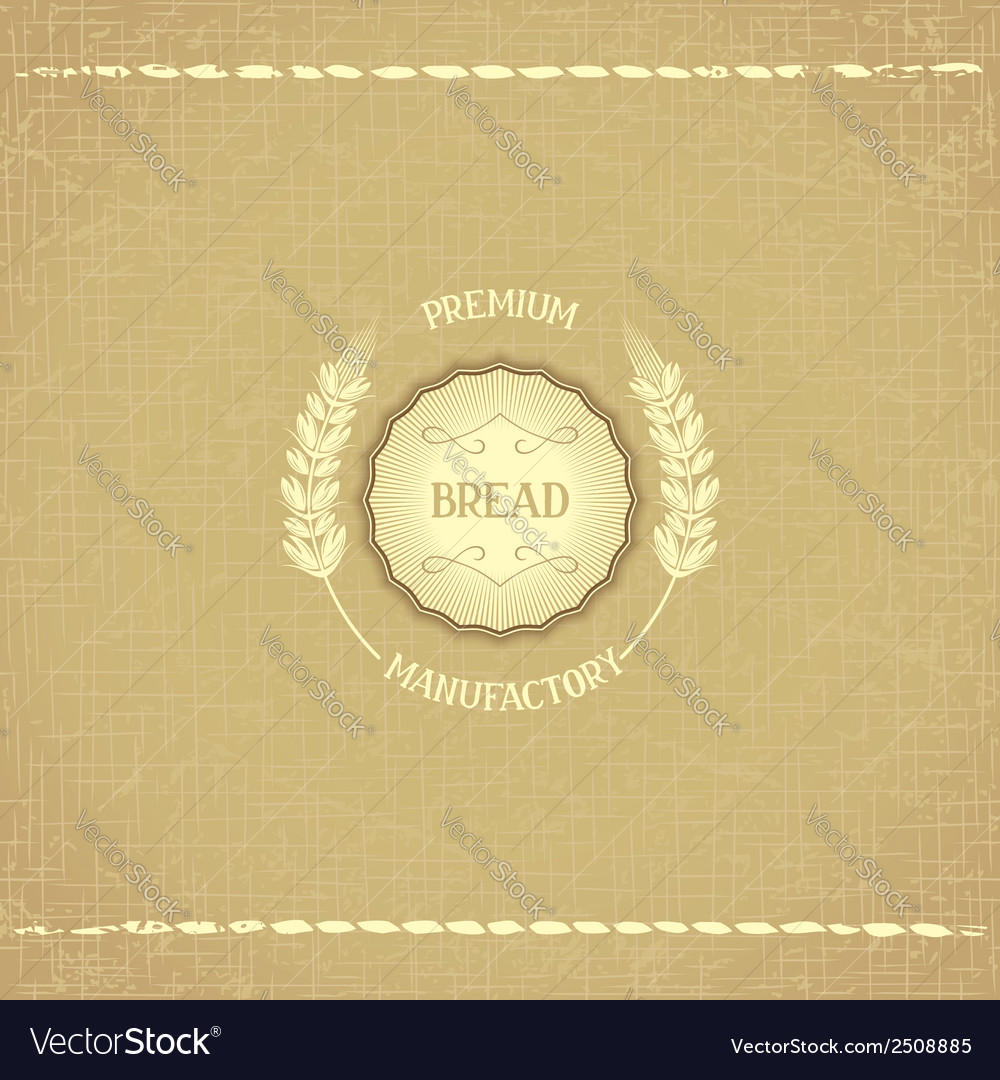 Vintage design emblem for baked goods vector | Price: 1 Credit (USD $1)