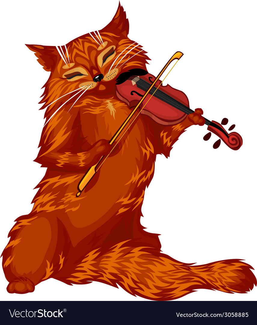Violin cat vector   Price: 1 Credit (USD $1)
